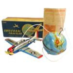 224133萬代屋 UNIVERSAL TRAVELER ブリキ 電動飛行機 /ヴィンテージ ビンテージ 玩具