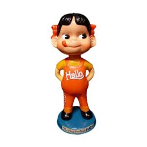 不二家 ペコちゃん 店頭用 首ふり人形 フレッシュケーキのハロー 30cm