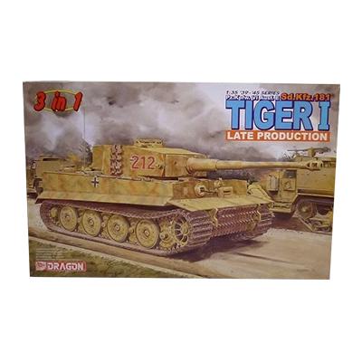 ドラゴン 1/35 TIGER Ⅰ ティーガー I 後期型 3in1 金属砲身 砲弾付