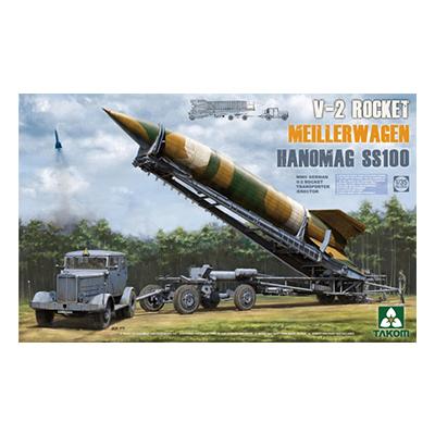 TAKOM 1/35 WWII ドイツ V2ロケット+ロケット運搬/発射台兼用車 メイラーワーゲン+ハノマーグ SS100トラクター