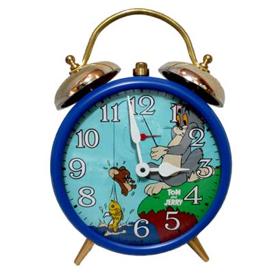 セイコー トムとジェリー 魚釣り 目覚まし時計 / 手巻き 置時計