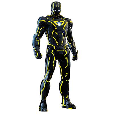 ムービーマスターピースダイキャスト アイアンマン2 アイアンマン・マーク6 1/6スケールフィギュア ネオンテック/イエロー版