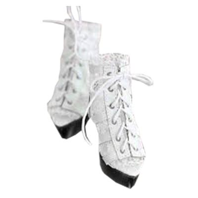アイメライ AIMERAI×CODE NOIR White Lace Caged Heels