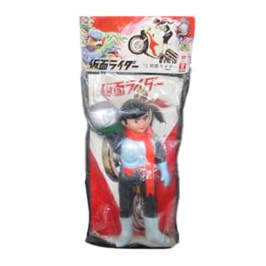 旧バンダイ 仮面ライダー 面取れソフビ (ブリキ製ベルト) /仮面ライダーソフビ