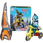 244241M1号 ブルマァク ウルトラQ ケムール人 三輪車 青 東京タワー付 ゼンマイ/ ウルトラ怪獣