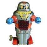 244960ノグチ ブリキ メカニカル スパーキング ロボット ゼンマイ/ブリキのロボット