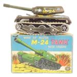 245283マスダヤ モダントイズ ブリキ M-24 TANK 戦車 ゼンマイ