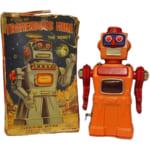 244161アオシン ブリキ TREMENDOUS MIKE THE ROBOT ゼンマイ / 火花