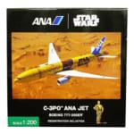 ANA 模型 ABSプラスチックモデル 1/200 STARWARS C-3PO ANA JET B777-200ER A743A NH20103
