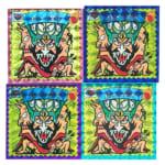 お化けWシール(魔界大戦) 妖メン皇帝 武装タイプ プリズム 4枚(赤・青・紫・緑)