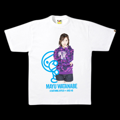 A BATHING APE × AKB48 TEE 渡辺麻友