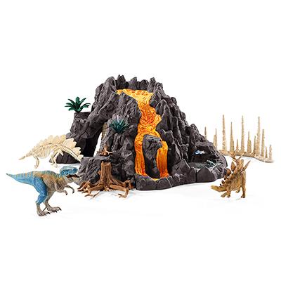 Schleich(シュライヒ) No.42305 大火山とティラノサウルス恐竜ビッグセット