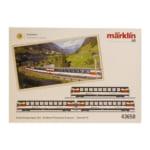 276895marklin メルクリン HOゲージ 43650 SBB スイス連邦鉄道 特急客車 ゴッタルド・パノラマ・エクスプレス 3両セット