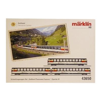 marklin メルクリン HOゲージ 43650 SBB スイス連邦鉄道 特急客車 ゴッタルド・パノラマ・エクスプレス 3両セット