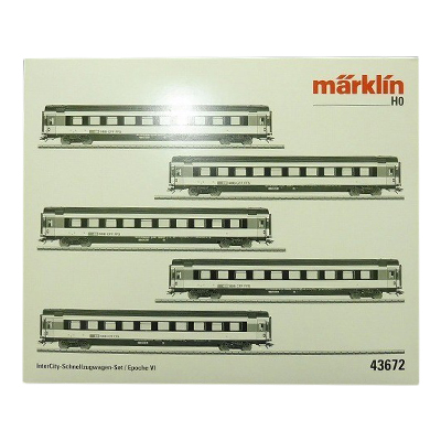 marklin メルクリン HOゲージ 43672 SBB スイス連邦鉄道 IC客車5両セット
