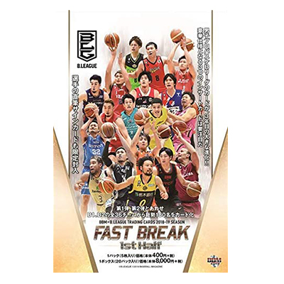 BBM B.LEAGUE TRADING CARDS 2018-19 SEASON FAST BREAK 1st Half BOX