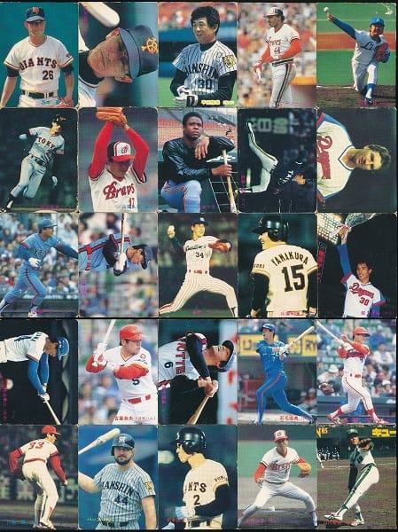 カルビー プロ野球 チップス カード 25枚 1985年
