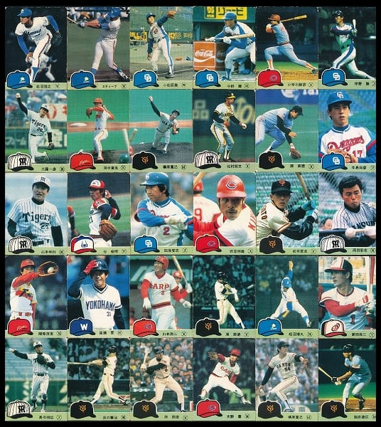 カルビー 当時物 プロ野球 チップス カード 1984年 2