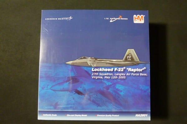 ホビーマスター 1/72 F-22 ラプター ダイキャストモデル