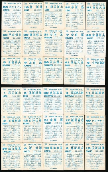 カルビー プロ野球 チップス カード 30枚 1988 当時物 ②_2