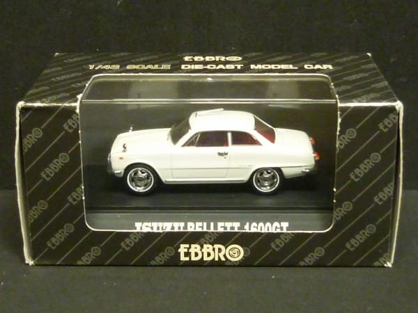 エブロ 1/43 いすゞ ベレット 1600GT ホワイト ミニカー_1