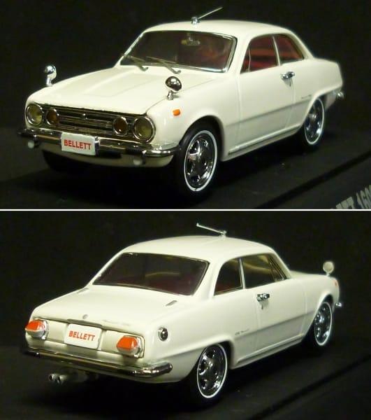 エブロ 1/43 いすゞ ベレット 1600GT ホワイト ミニカー_2