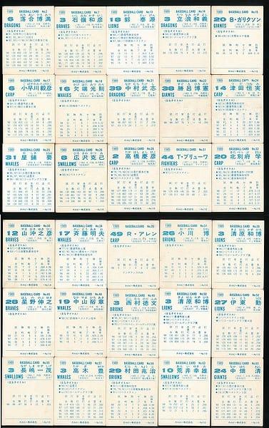 カルビー プロ野球 チップス カード 30枚 1989 当時物 ②_2