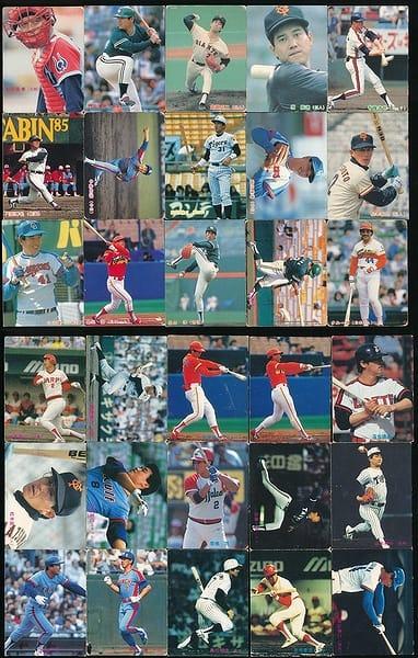 カルビー プロ野球 チップス カード 30枚 1985年 当時物 ①_1