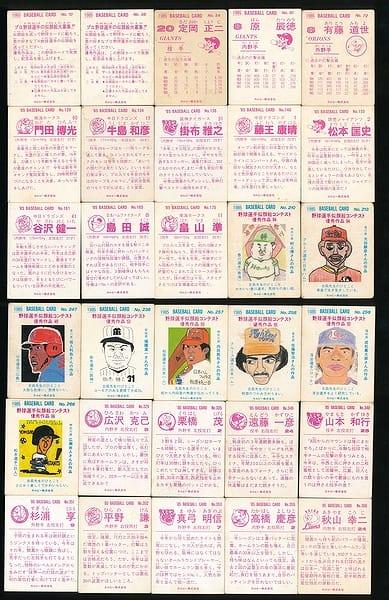 カルビー プロ野球 チップス カード 30枚 1985年 当時物 ①_2