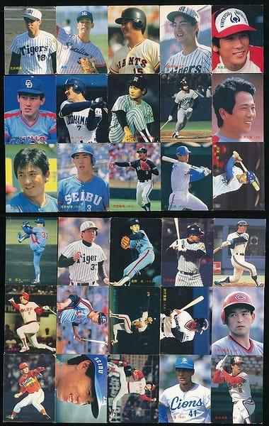 カルビー プロ野球 チップス カード 30枚 1986年 当時物_1