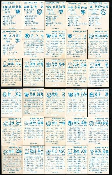 カルビー プロ野球 チップス カード 30枚 1986年 当時物_2