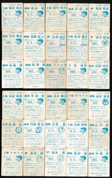 カルビー プロ野球 チップス カード 30枚 1981 当時物 ②_2