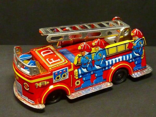 日本製 マルナカ玩具 はしご車 ブリキ フリクション