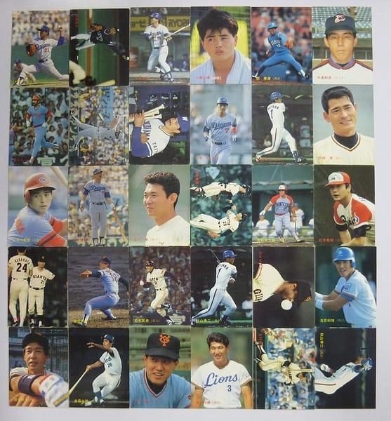 カルビー プロ野球チップスカード 1987年No.244~307 当時物
