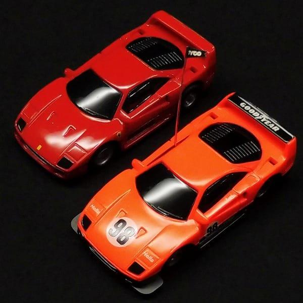 HOスロットカー フェラーリ F40 赤 オレンジ / TYCO
