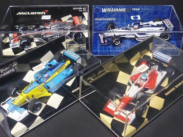 ミニチャンプス 1/43 ルノーF1 R202 ウィリアムズ BMW他