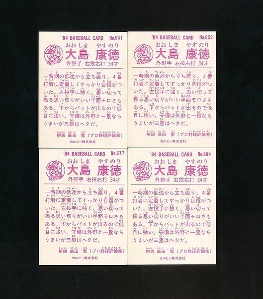 カルビー プロ野球チップスカード 1984 中日 大島康徳_2