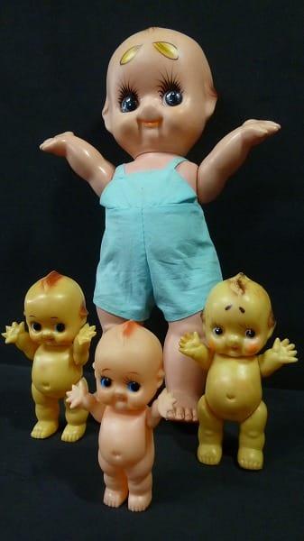 キューピー ピンテージソフビ人形 まとめて 当時物