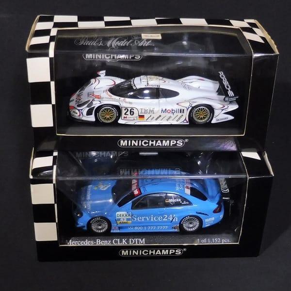 ミニチャンプス 1/43 ポルシェ911 メルセデス CLK Coupe