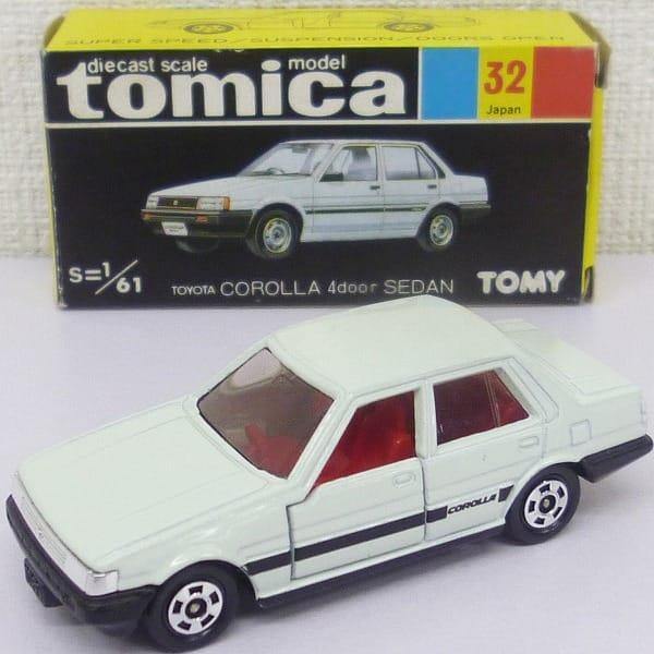 当時 黒箱 日本製トミカ トヨタ カローラ 4ドア セダン