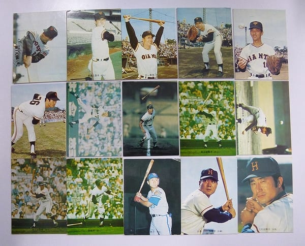 カルビー プロ野球チップスカード 1973年 バット版 15枚