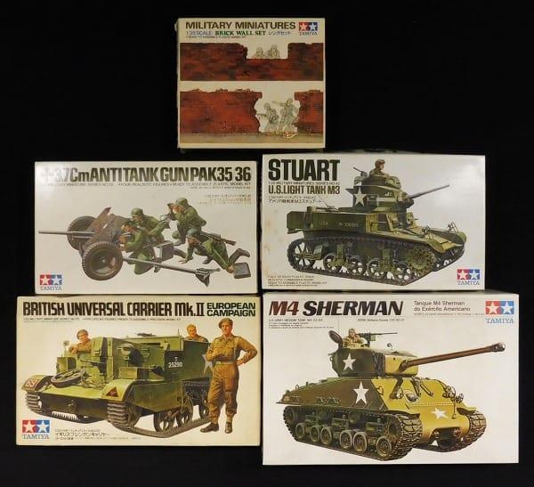 タミヤ 1/35 M4A3E8シャーマン M3スチュアート PaK36 他