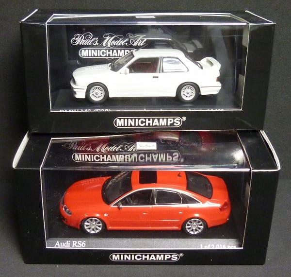 ミニチャンプス 1/43 BMW M3 アウディ RS6 ミニカー