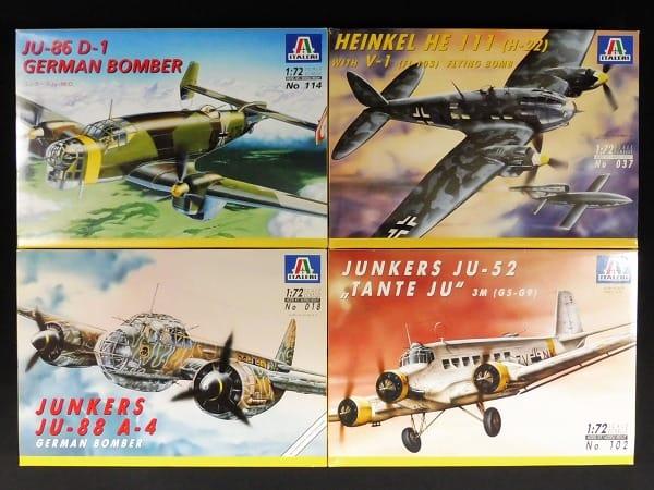 イタレリ 1/72 JU-52 , JU-86 D-1 , JU-88 A-4 , HE-111