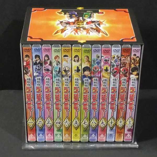 初回版 DVD 侍戦隊 シンケンジャー 全12巻 収納BOX付