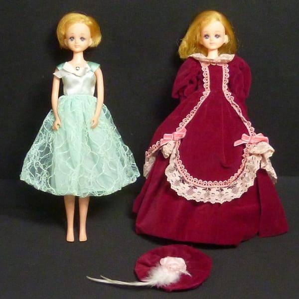 日本製 初代エリー 2体 ジェニーフレンド 赤ドレス 他_1