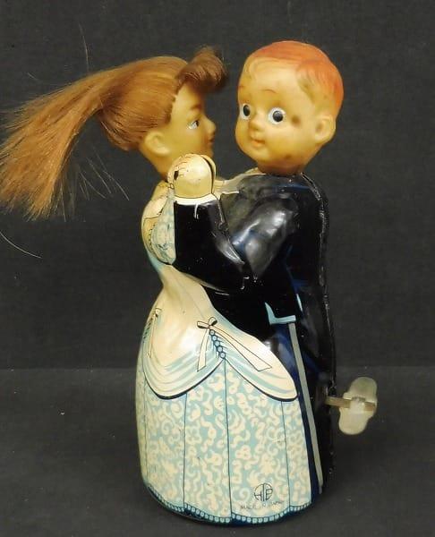 ヒカリ玩具 当時 ブリキ ダンシングカップル ゼンマイ式