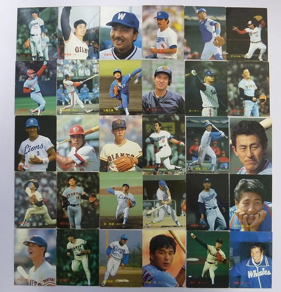 カルビー 当時物 プロ野球 カード 1987年 30枚 190~225_1
