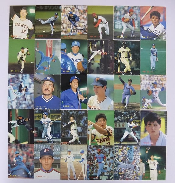 カルビー 当時物 プロ野球 カード 1987年 30枚 226~256_1