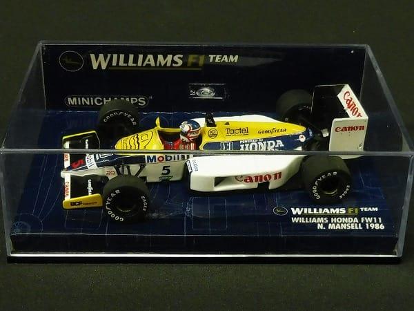 ミニチャンプス 1/43 ウィリアムスFW11 N.マンセル